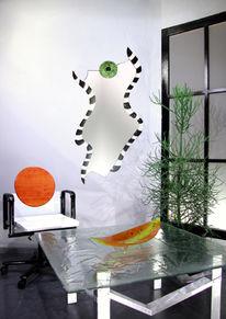 Designspiegel, Spiegel, Modern, Glasschale