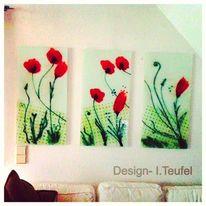 Glas, Mohn, Modern, Blumen