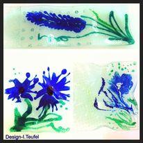Blumen, Glasschale, Design, Glas