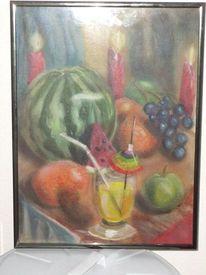 Stillleben, Acrylmalerei, Malerei, Obst