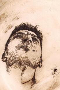 Druck, Mann, Portrait, Druckgrafik