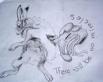 Hase, Unfall, Zeichnungen, Kritzel