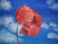 Malerei, Blick, Himmel