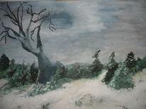 Winter, Bäume, Besinnlichkeit, Kälte