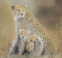 Pastellmalerei, Gepard, Zeichnungen, Wildtiere