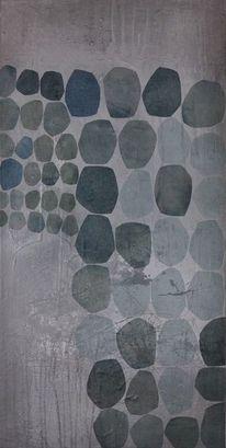 Abstrakte malerei, Abstrakte kunstwerk, Kreis, Punkteundkreise