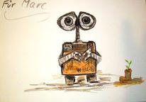 Lebendig, Roboter, Für´s kind gemalt, Schnell