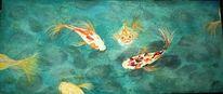 Teich, Koi, Fische, Wasser