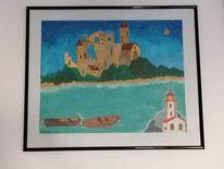 Träumerei, Gemälde, Architektur, Acrylmalerei