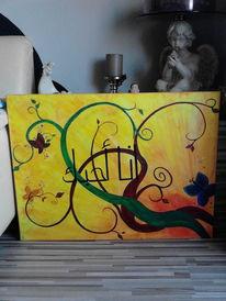 Acrylmalerei, Frühling, Malerei, Aquarell