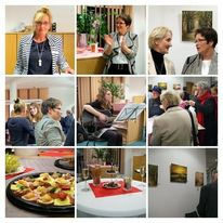 Vernissage, Sparkasse, Pinnwand,