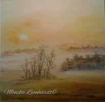 Nebel, Malerei, Acrylmalerei, Natur
