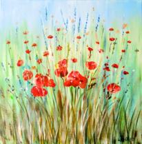 Wiese, Natur, Malerei, Sommer