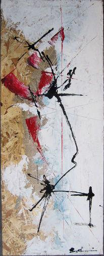 Weiß, Abstrakt, Rot schwarz, Malerei