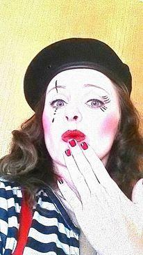 Rot schwarz, Pantomime, Weiß, Fotografie