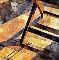 Licht und schatten, Stuhl, Sonne, Wärme