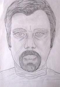 Portrait, Bleistiftzeichnung, 1978, Zeichnung