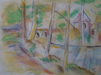 Pastellmalerei, Zeichnung, Tusche, Mischtechnik