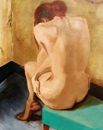 Figur, Akt, Frau, Malerei
