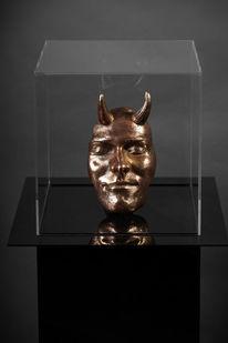 Despudelskern, Luzifer, Bronze, Skulptur