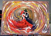 Acrylmalerei, Malerei, Tango