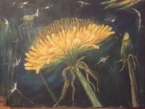 Pusteblumen, Duett, Löwenzahn, Malerei
