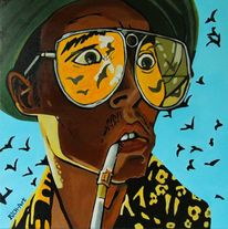 Batland, Comic, Acrylmalerei, Fear and loathing