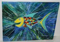 Fisch, Malerei