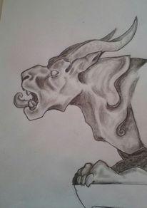 Wächter, Figur, Drache, Zeichnungen