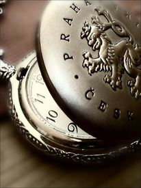 Uhr, Taschenuhr, Praha, Prag
