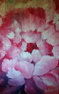 Pfingstrose, Blumen, Blühen, Acryl auf leinwand