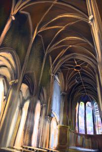 Gewölbe, Bogen, Kathedrale, Säulengang