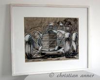 Mercedes, Zeichnungen, Oldtimer