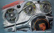Porsche, Zeichnungen, Motorrad,