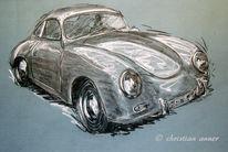 Sport, Porsche, Zeichnungen, Oldtimer
