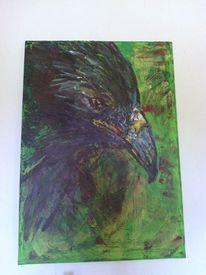 Vogel, Acrylmalerei, Malerei, Tiere