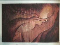 Sonnenlicht, Höhle, Krake, Malerei