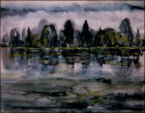 Wolken, Wasser, See, Baum