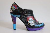 Schuhe, Acrylmalerei, Halloween, Bemalte schuhe
