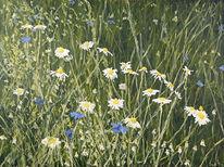 Leinen, Wiese, Ölmalerei, Gras
