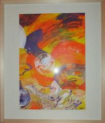 Malerei, Abstrakt, Acrylmalerei, Entscheidung