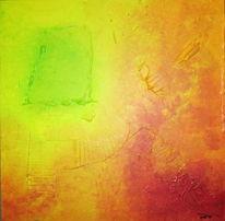Abstrakt, Acrylmalerei, Primavera, Strukturpaste