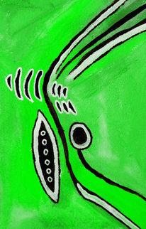 Enttäuschung, Abstrakt, Träumerin, Grün