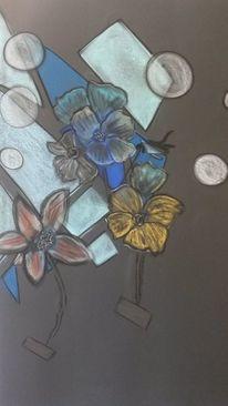 Abstrakt, Bunt, Blumen, Rund