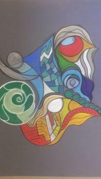 Abstrakt, Bunt, Rund, Fantasie
