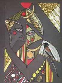 Kopf, Figur, Vogel, Gesicht