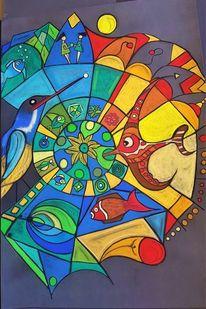 Fisch, Rund, Vogel, Fantasie