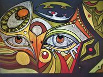Bunt, Augen, Trauer, Fantasie