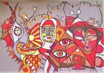 Maske, Bunt, Kopf, Abstrakt