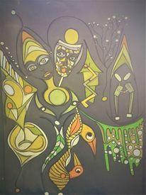 Kopf, Leuchten, Abstrakt, Fantasie